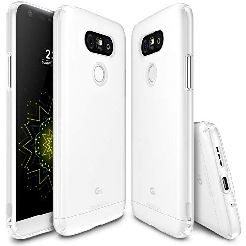Ringke Slim Compatible with LG G5 Case Snug-Fit Slender Tailored Cutouts Extreme Lightweight & Thin Side to Side Edge Coverage Scratch Resistant Superior Coating PC Hard Skin - SF Black