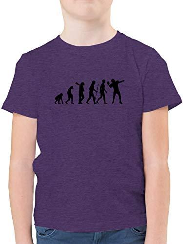 Evolution Kind - Football Evolution QB - 128 (7/8 Jahre) - Lila Meliert - Football - F130K - Kinder Tshirts und T-Shirt für Jungen