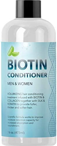 Natural Biotin Conditioner For Hair Loss - DHT Blocker Hair Growth Hair Follicle Stimulator - Dry Damaged Hair Treatment Sulfate Free With Aloe Vera Jojoba Oil Sea Buckthorn (16oz Conditioner) product image