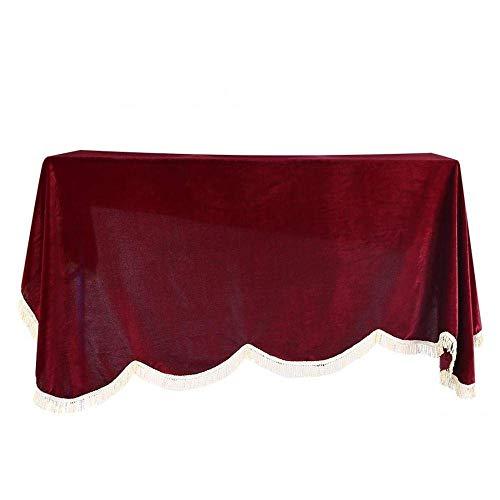 YWAWJ Volles Piano Cover, Cloth Spitze verdickte Klavier Deckel voll gestickte Vertikale Klavier Abdeckung Grenzt Staubschutz