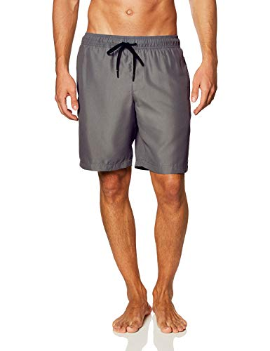 "Amazon Essentials Men's Quick-Dry 9"" Swim Trunk, Charcoal, Large"