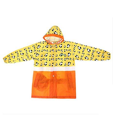 Korean Lovely bébé imperméable Mode enfants pluie Jaune Imprimé léopard S