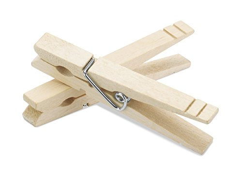 Product Image of the Whitmor Wood Natural Clothespins