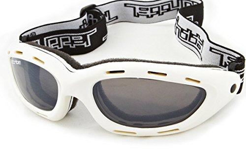 Classic White Frame/Smoke Lens Sunglasses Floating Water Jet Ski Goggles Sport Designed for Kite Boarding, Surfer, Kayak, Jetskiing, Other Water Sports.