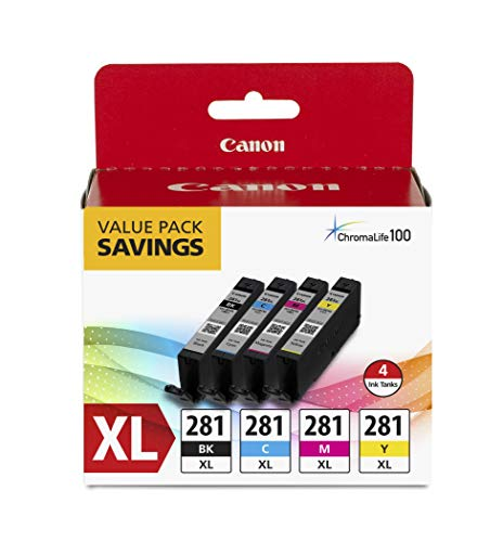 Canon CLI-281 XL BKCMY 4-Color Ink Tank Value Pack (2037C005) and Canon PGI-280 XL Pigment Black Ink Tank (2021C001) Louisiana