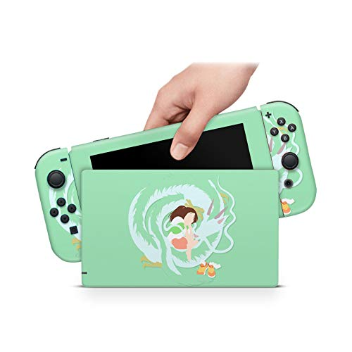 ZOOMHITSKINS Studio Ghibli Anime Japan Spirited Away Sen To Chihiro Green High Quality 3M Vinyl Decal Sticker Wrap, Nintendo Switch Compatible, Made in the USA