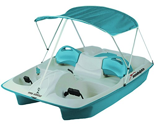 Discover Bargain Sun Dolphin Sun Slider 5 Seat Pedal Boat with Canopy, Ocean