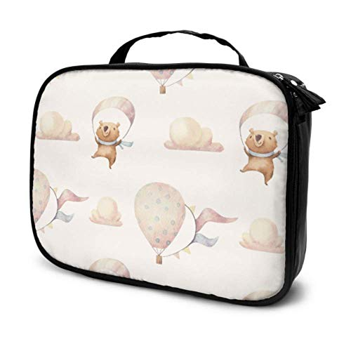 Air Balloon Cute Balloon Travel Portable Makeup Bag Cosmetic Bag Zipper Girly Makeup Pouch Multifunction Printed Pouch for Women
