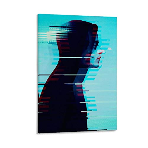 jiandan Póster de Mr Robot en lienzo y arte de pared, diseño moderno, 20 x 30 cm
