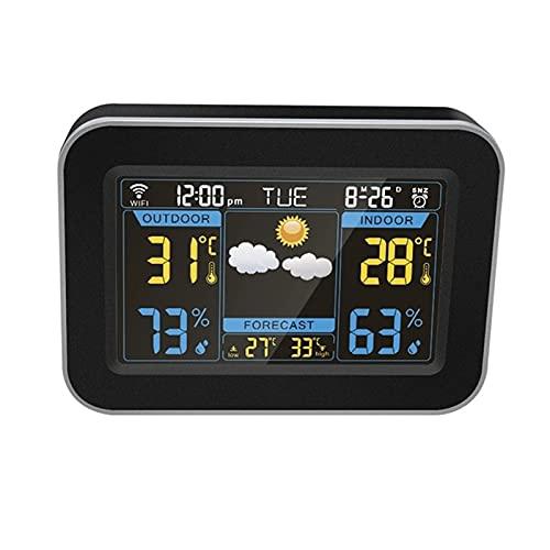 Despertador LCD en Color, Temperatura meteorológica, Despertador doméstico Inteligente en Red