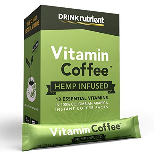 Nutrient Hemp Coffee - Vitamin Infused - Instant Colombian Packets