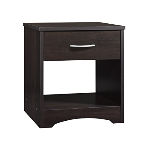 Sauder Beginnings Night Stand, Cinnamon Cherry finish