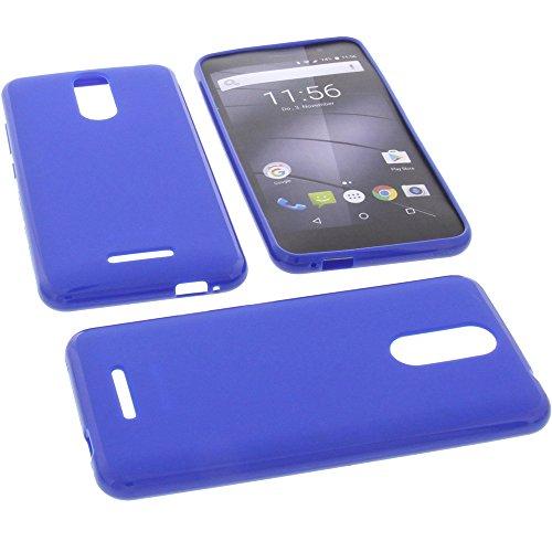 foto-kontor Tasche für Gigaset GS160 / GS170 Hülle Gummi TPU Schutz Handytasche blau