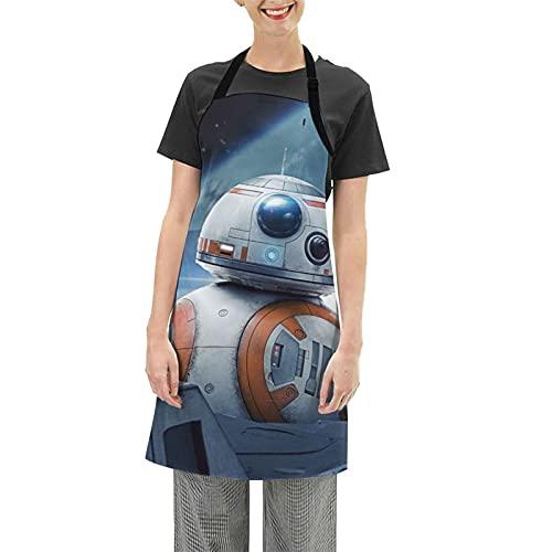 Star The Wars R2-D2 - Delantal impermeable ajustable para el hogar, cocina, restaurante, café, casa, hornear, asar a la parrilla, limpieza del hogar