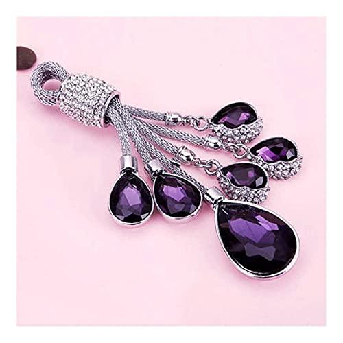 WAGA Lindo Llavero El Llavero es Firme y no es fácil de reemplazar, el Anillo de Llavero de Cristal de Diamante Artificial, Regalo Colgante de la joyería para Las niñas Regalo para Mujeres