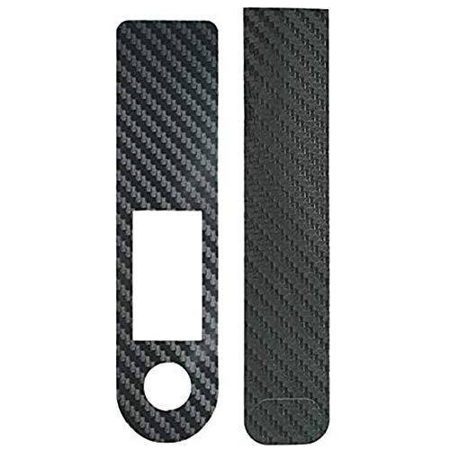 Pantalla Vespa Acelerador De Cine De La Etiqueta Engomada De Fibra De Carbono Película Protectora Compatible con Xiaomi M365 Pro Scooter Eléctrico Accesorios Negro, 2pcs