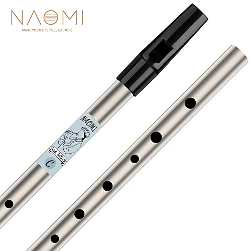 Montloxs 6 Holes Tin Whistle Traditionelles irisches Penny Whistle Messingmaterial Musikinstrument für Anfänger, Tonart C.