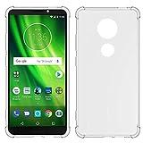 TIYA for Motorola G6 Play Case/Moto E5 Case Clear TPU Four
