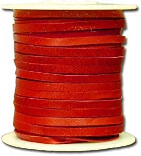 "Springfield Leather Company 1/8""x50ft Red Leather Deer Lace"