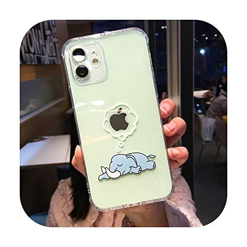 Funda de teléfono para iPhone 12 11Pro Max de TPU con diseño de Shiba Inu para iPhone X XR XS XsMax 7 8Plus-3092 para iPhone 12 Pro