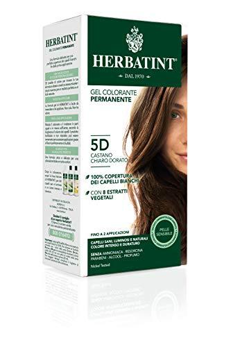 Herbatint Gel Colorante Permanente 5D Castano Chiaro Dorato 150ml