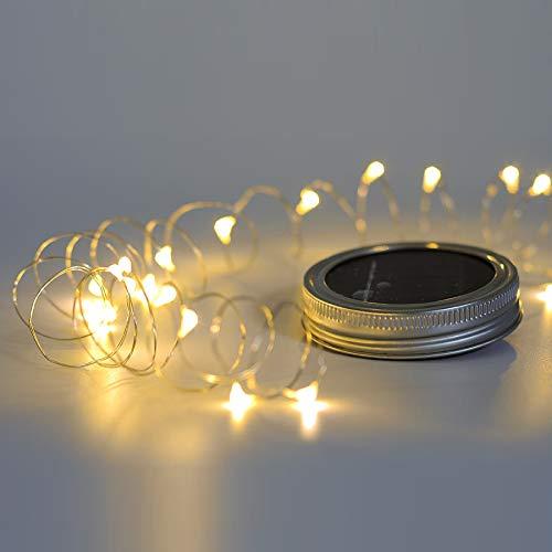 3 Pack Mason Jar Lights With Solar Led Color Solar