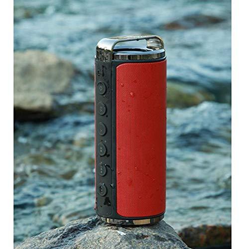 MESST Altavoz Bluetooth, al Aire Libre Impermeable Bluetooth Audio inalámbrico subwoofer Altavoz al Aire Libre, Adecuado para conectar el teléfono móvil Bluetooth,Red