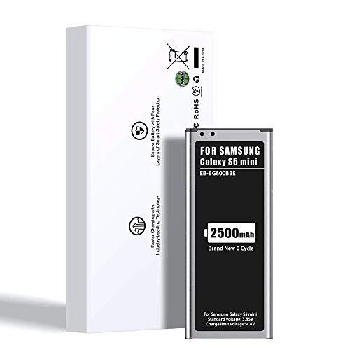Akku passend für Samsung Galaxy S5 Mini, ZMNT 2500mAh Li-ion Ersatz Akku für Samsung Galaxy S5 Mini (Kompatibel mit Allen Galaxy S5 Mini-Modellen)