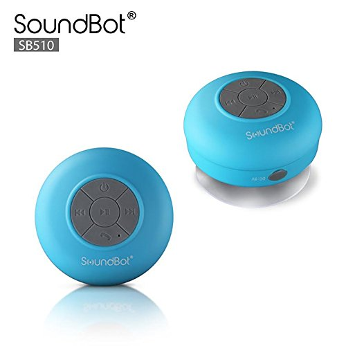 SoundBot SB510 HD Water Resistant Bluetooth 3.0 Shower Speaker, Handsfree Portable Speakerphone with...