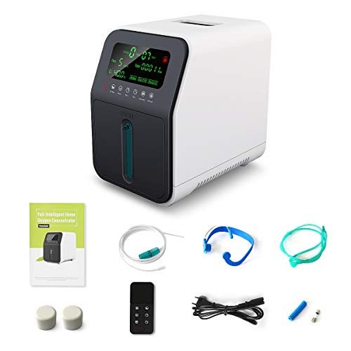 Sauerstoff Maschinen, OSITO 1-5L /min Tragbare Sauerstoffmaschine, 90% Hochrein Zuhause SauerstoffKonzentrator, Bewerben Sie sich bei Ältere Menschen, Schwangere Frauen, Kinder - Nicht Medizinisch
