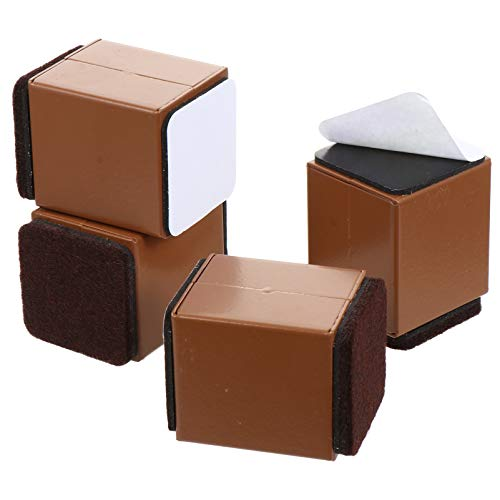VOSAREA 4 Stück Möbel Riser Möbel Hebepad Bett Riser Sofa Lift Square Riser für Sofa Tisch Und Stuhl 40X52mm