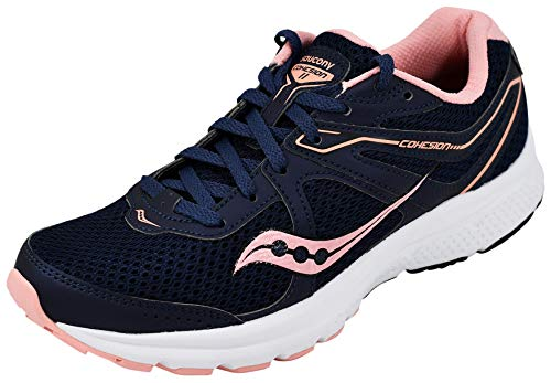 Saucony Women's Cohesion 11 Running Shoe, Navy/Pink 9.5 M US