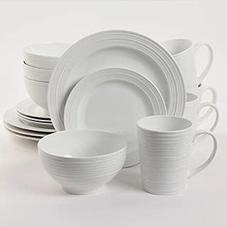 Gibson Home Amelia Court 16 Piece Dinnerware Set, White