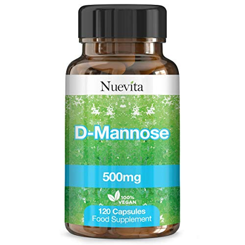 D-Mannose 500mg 120 Vegan Capsules. Natural Cystitis UTI Relief Supplement