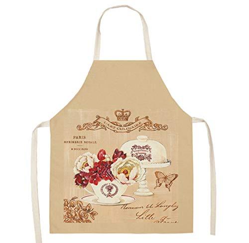 JZZCIDGa Weiche Baumwolle Leinen Schürze Tasse Und Schmetterling Küche Kochen Kleidung Geschenk Für Frauen Chef Einweihungsparty Kochen Restaurant Arbeit BBQ Garten Wohnkultur