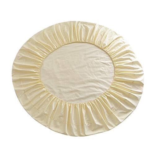Cjwdxxnh Sábana Ajustable de Cama Redonda de algodón 100% de Color sólido para el hogar del Hotel 220 cm, 16 Colores Disponibles