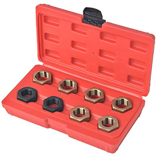 8Pcs Metric Thread Restorer Kit Thread Restorer Tap & Die Set Spindle Rethreading Tool for Cleaning and Changing Lines