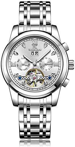 Relojes- Minimalista Hombre s Reloj Grande Volante Automático Reloj Mecánico Explosión Luminoso Impermeable Reloj Ajustable F-F-E
