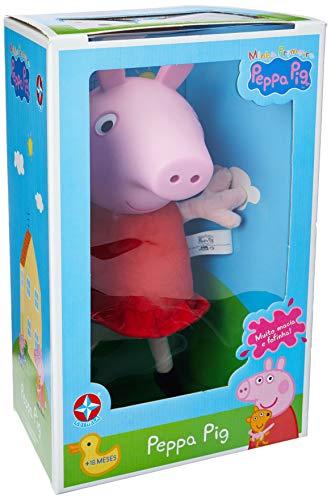 Pelúcia Peppa Pig Cabeça De Vinil 34 Cm - Estrela Brinquedos Estrela Multicores