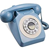 IRISVO Rotary Design Retro Landline Phone for Home,Old Fashioned Corded Telephone with Classic Metal Bell Push Button Technology
