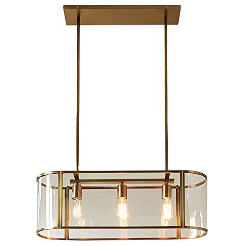 LMDH Rectangle Gold Acryl plafondverlichting Modern Retro LED Kroonluchter for Bedroom Living Room Restaurant Bar