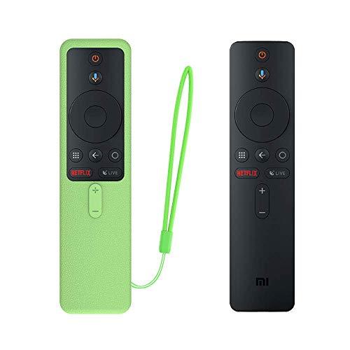 SIKAI Funda Protectora para MI TV Box S EU Mando a Distancia Carcasa de Silicona Resistente a Golpes para MI Box S Remote Antipolvo Antipérdida Protective Skin (Luminoso Verde)