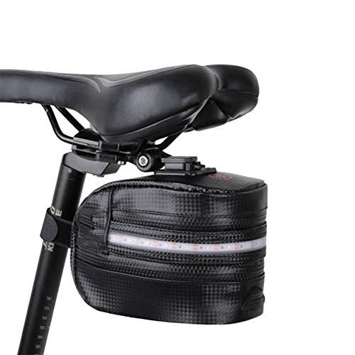Apxzc Fiets-achterbanktas, klein, grote inhoud, waterdichte stof met ritssluiting van rubber, zeer helder, voor kamperen