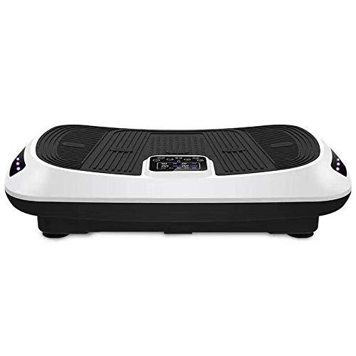 Topashe Plataforma Vibratoria 3D para,Máquina de eliminación de Grasa Inteligente 3D, Fitness Shake Machine-White,Plataforma Vibratoria Oscilante