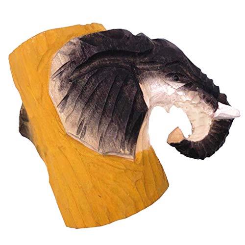 Veemoon Estuche de Madera para Lápices de Elefante Organizador de Artículos de Escritorio Estuche para Utensilios de Cocina de Bambú Caja para Caddy Almacenamiento de Brochas de