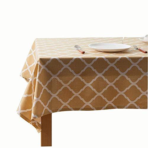 MJK Inicio Manteles, Geometría de diamante amarillo Mantel de lino y algodón Mantel Mantel de mesa de café Mantel de tela,Amarillo,una sola capa de 32 × 45 cm