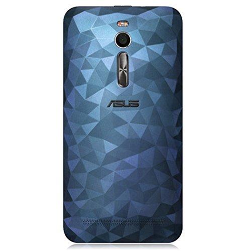 "Asus Zenfone 2 Deluxe Ze551ml Case 5.5"" Inch, Back Battery Cover Rear Door Housing Replacement for Asus Zenfone2 Ze551ml Ze550ml with NFC Antenna Chip Sticker Original (Navy)"