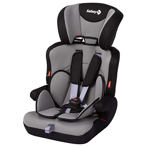 Safety 1st 8512652001 Ever Safe Plus Kindersitz, mitwachsender Gruppe 1/2/3 Autositz mit 5-Punkt-Gurt (9-36 kg), nutzbar ab circa 9 Monate bis circa 12 Jahre, grau