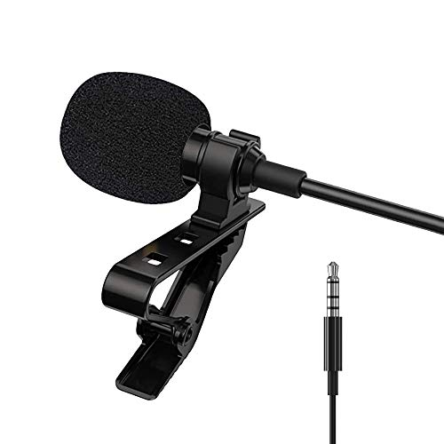 3.5mm Omnidirectional Mic, Tiny External Microphone, Clip-On Android Smartphone Mics for Recording YouTube, Interview, Video Conference, Podcast, Voice Dictation, Kwai Conference, 204