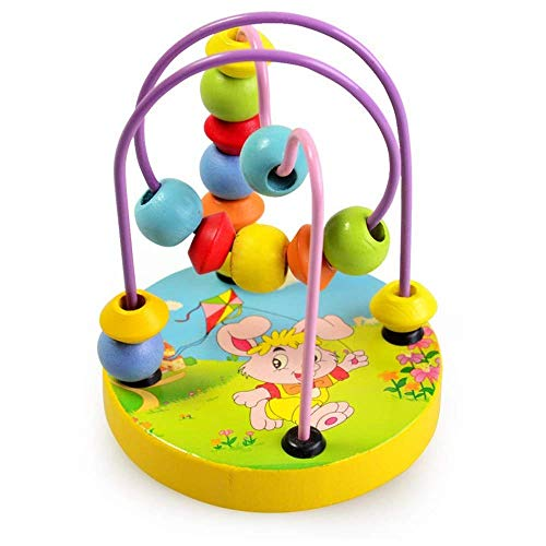 Children's e'ducational toys baby beade'd baby intellectual fun small round beads Wooden Bead Maze Roller Coaster Game Classic e'ducational Toys For 3 Year Old Girl Boy Re LATT LIV